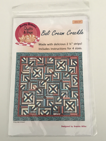 Bali Cream Crackle Quilt Pattern from Among Brenda's Quilts & Bags