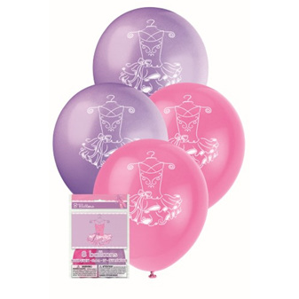 ballerina balloons 8 pack 30cm balloons