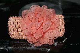 Ballerina Chiffon Crochet Headband - APRICOT
