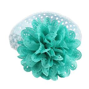Ballerina Chiffon Crochet Headband - AQUA