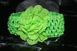 Ballerina Chiffon Crochet Headband - GREEN