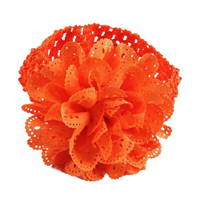 Ballerina Chiffon Crochet Headband - ORANGE