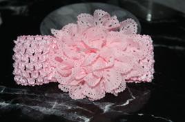 Ballerina Chiffon Crochet Headband - PALE PINK