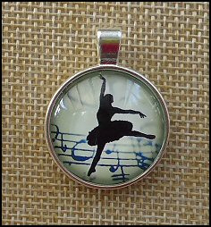 Ballerina Glass Dome Key Ring