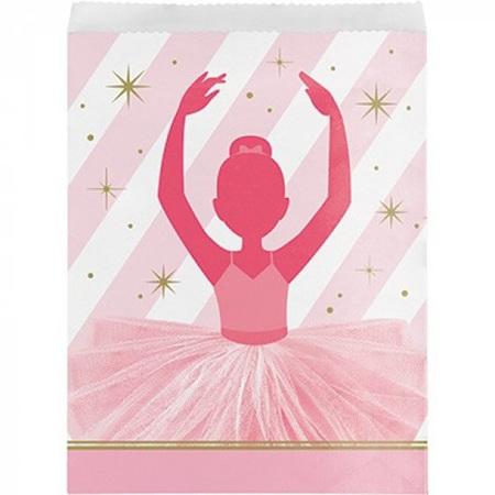Ballerina paper treat bags x10