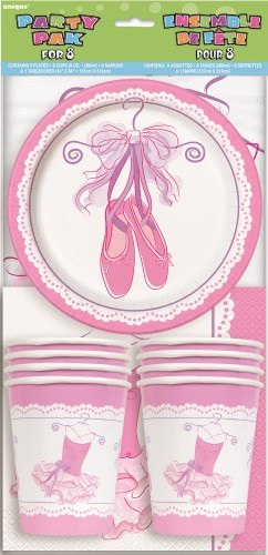 Ballerina party pack for 8.