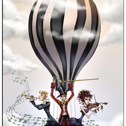Balloon Birds Eye View - Card