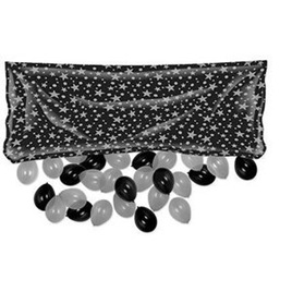 Balloon Drop Bag - Black & Silver Star