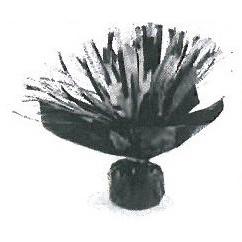 Balloon Weight - Flower Black