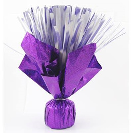 Balloon Weight - Purple Flower