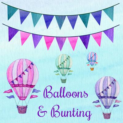 Balloons & Garland Flags