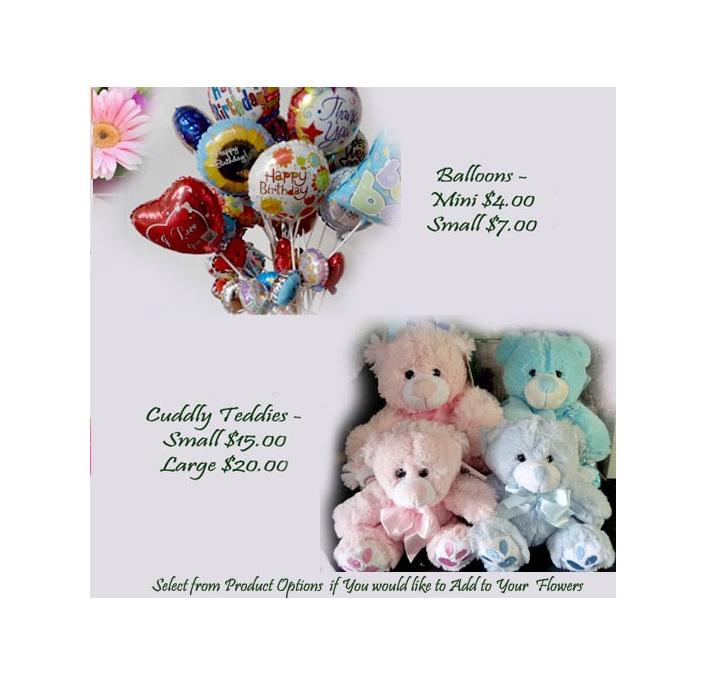 balloons or teddies