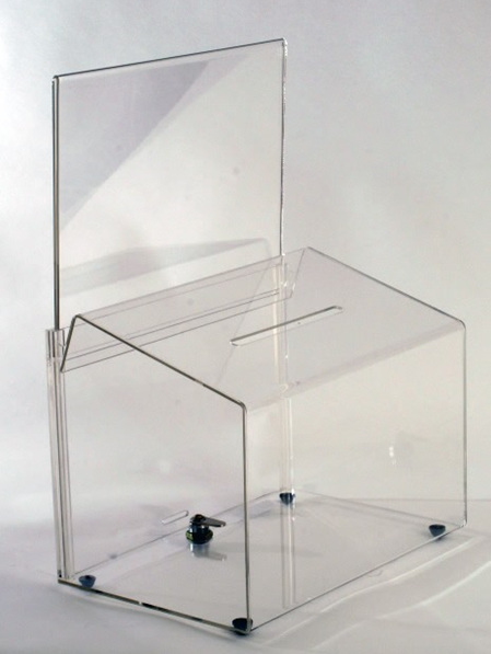 Ballot Box - Large A4 Landscape Sign Holder