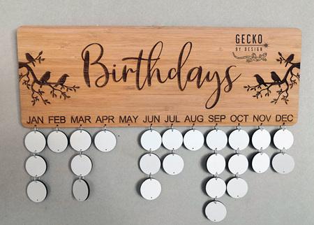 Bamboo Birthday Board - Custom