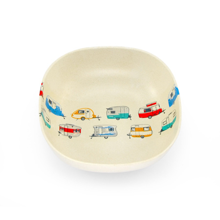 BAMBOO CEREAL BOWL COLOURED CARAVANS