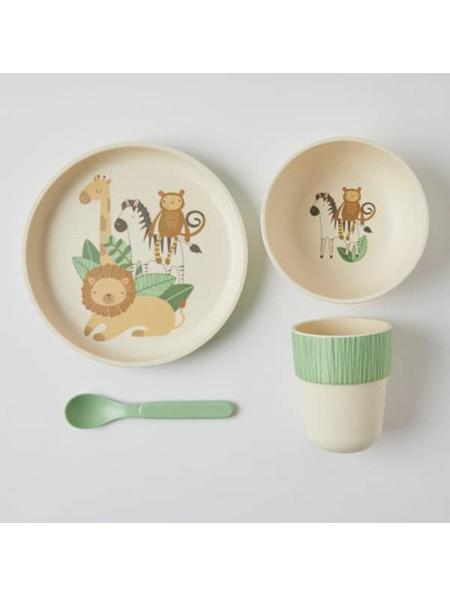 Bamboo Kids Dinner Set - Animal Safari