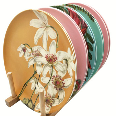 Bamboo Vintage Plates