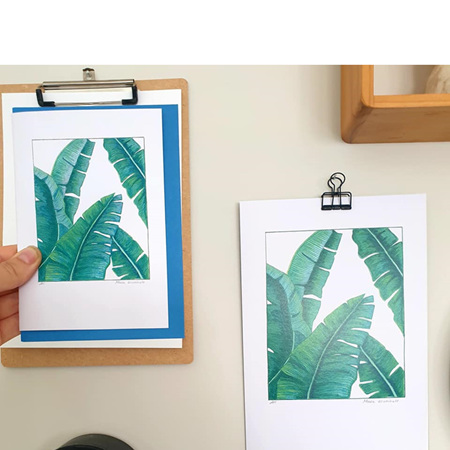 Banana Leaf Greeting Card