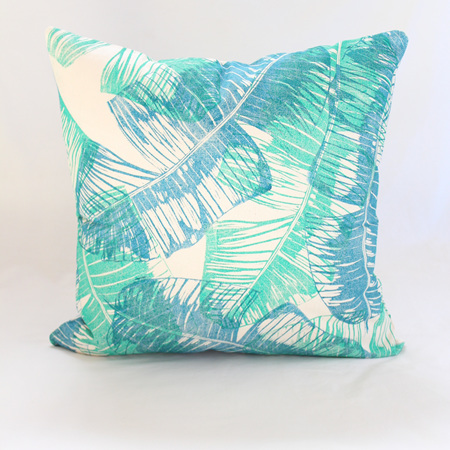 Banana Leaf Overlay Cushion