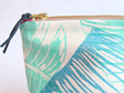 Banana Leaf Overlay Pouch with Leather Tab