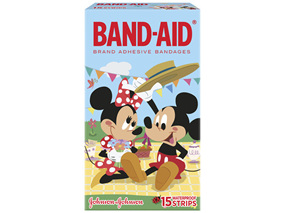 Band-Aid Waterproof Strip Mickey Mouse15 Pack