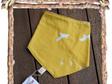 Bandana Bib, 'Flight, Golden' GOTS Organic Cotton, 3 mths - Toddler (Code B3)