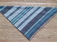 Bandana - Woven Stripes, Blue, Brown and White