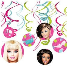 Barbie Hanging Swirls pack of 12