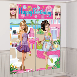 Barbie -Happy Bday wall decorating kit