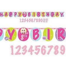 Barbie - happy Birthday Add a Number Banner
