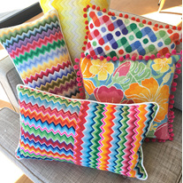 bargello needlepoint cushions