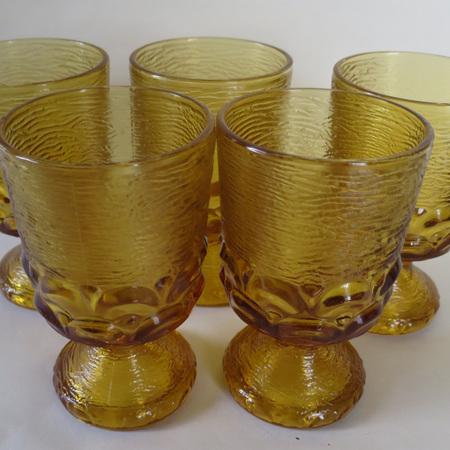 Bark style amber glasses