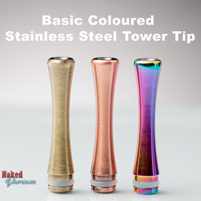 Basic Coloured Stainless Steel Tower Tip