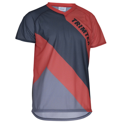 Basic Mesh O-Shirt, Steel / Blue / Magma