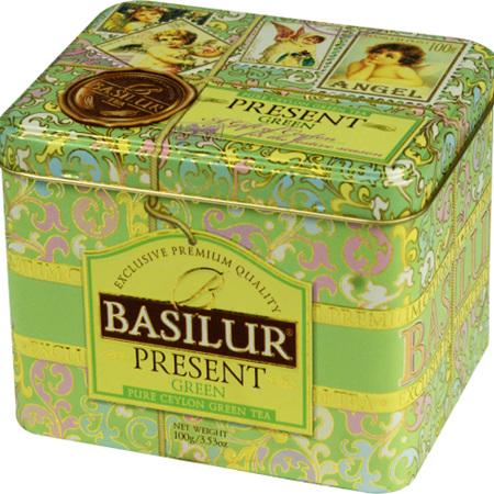 BASILUR PRESENT GREEN STRAWBERRY GREEN TEA
