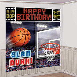 Basketball scene setter - slam dunk!