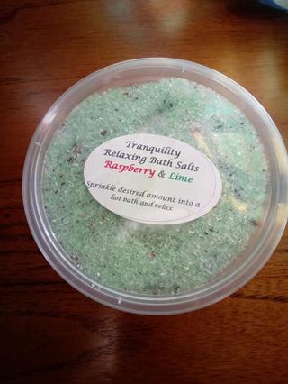 Bath Salt - Rasberry & Lime