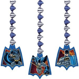 Batman 3 Hanging Decorations x 3