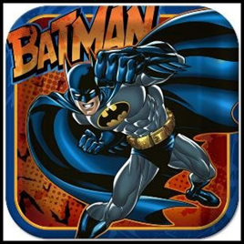 Batman 3 Party Plates - Large