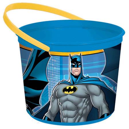 Batman plastic favor bucket x 1