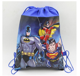 Batman, Superman & Robin Drawstring Bag
