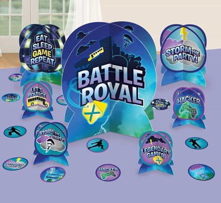 Battle Royal table decorating kit.