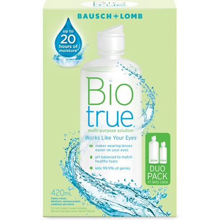Bausch + Lomb Biotrue Multipurpose Solution Duo 300ml + 120ml