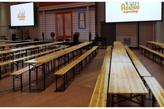 Bavarian Table  & 2 Bench Set
