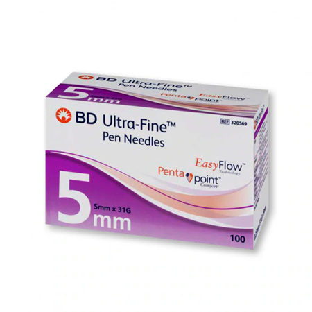 BD ULTRA-FINE PN 31G 5MM NEEDLE BOX 100