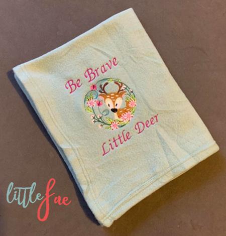 Be Brave Little Deer Baby Blanket