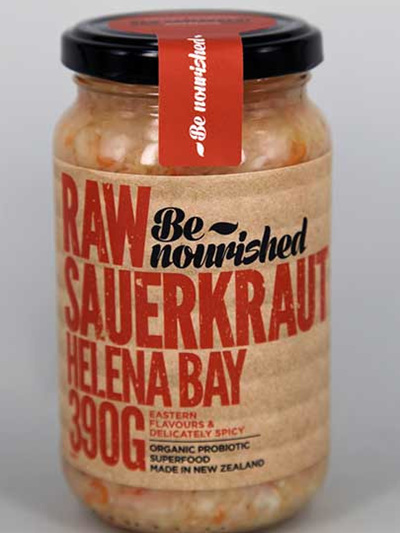 Be Nourished Helena Bay Magic Raw Sauerkraut 390gm