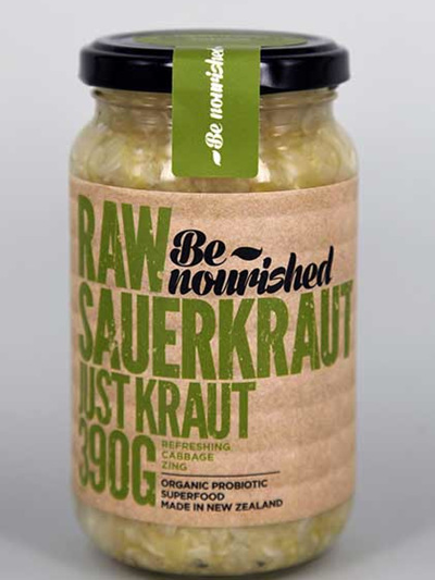 Be Nourished Just Kraut Raw Sauerkraut 390gm