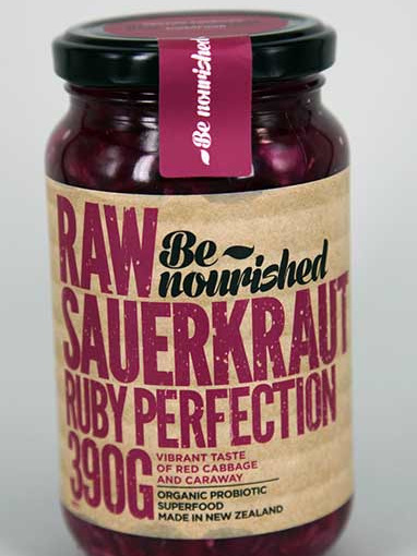 Be Nourished Ruby Perfection Raw Sauerkraut 390gm