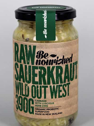 Be Nourished Wild Out West Raw Sauerkraut 390gm